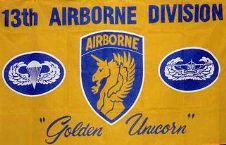 13TH AIRBORNE - 5 X 3 FLAG